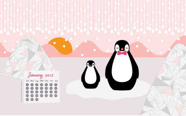 Cute January Calendar Wallpaper : Need a cute new year desktop classiclyamber