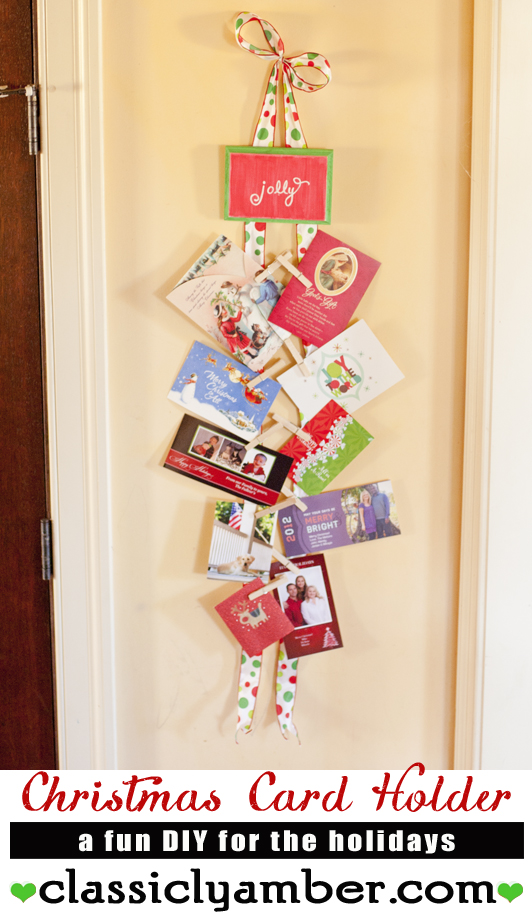 DIY Holiday Card Holder- ClassiclyAmber.com