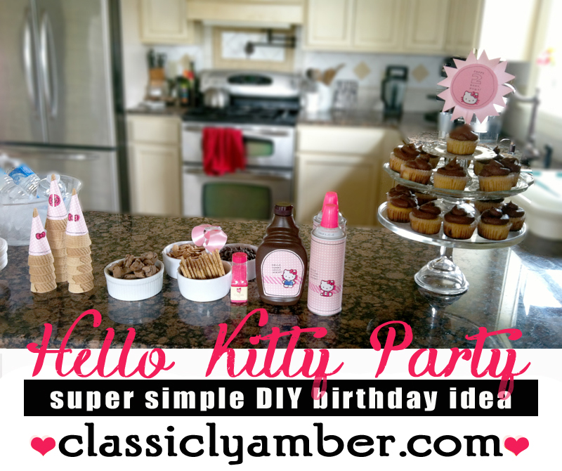 Super Simple Bday Party Idea -- ClassiclyAmber.com