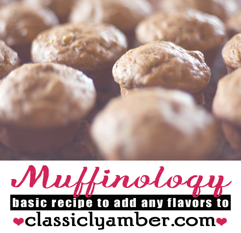 Muffinology - ClassiclyAmber - The muffin #recipe to end all muffin recipes.